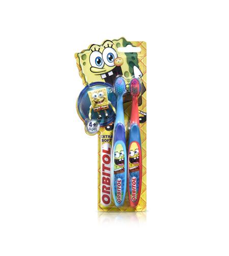 אורביטול - זוג מברשות שיניים בוב ספוג