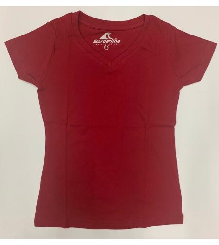 חולצת בית ספר בנות ס.ג'רסי בורדו