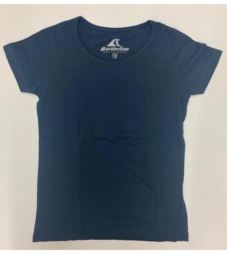 חולצת בית ספר בנות לייקרה כחול נייבי