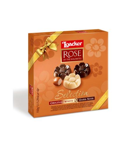 Loacker - ROSE - לוהקר שוקולד חלב, מריר ולבן