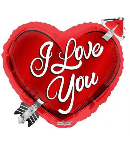 I LOVE YOU לב קופידון