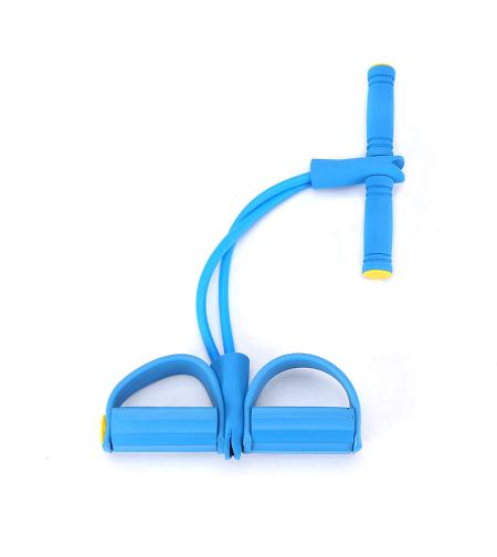 גומיית התנגדות רב תכליתית עם דוושה נגד החלקה-צבע כחול