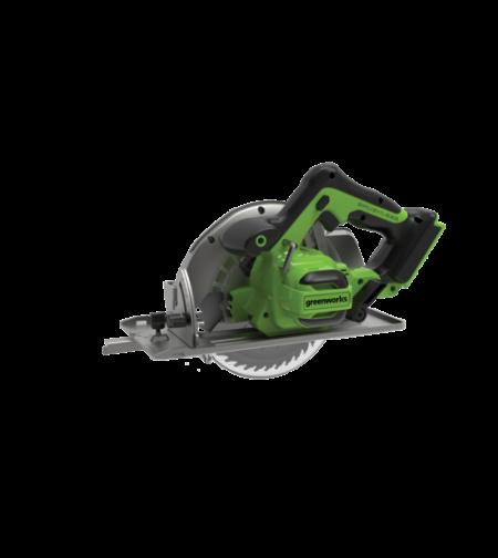 מסור עגול נטען 24V - גוף בלבד greenworks