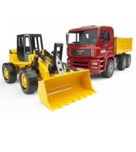 משאית חול + טרקטור