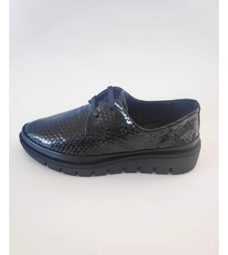 FLY FOOT עור קרוקו שחור