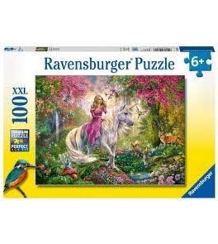 פאזל  נסיכה קסומה על סוס 100 חלקים Ravensburger