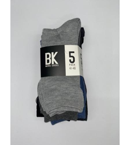 גרבי אלגנט גבר{5} שחור, כחול, אפור, אפור עכבר