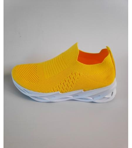 Studio  נעל גרב צהובה