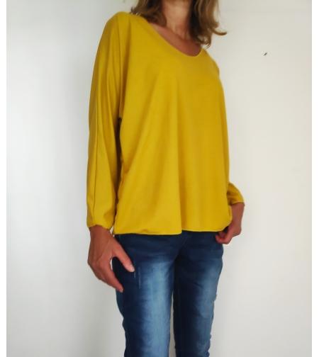 חולצה צהובה שרוול ארוך