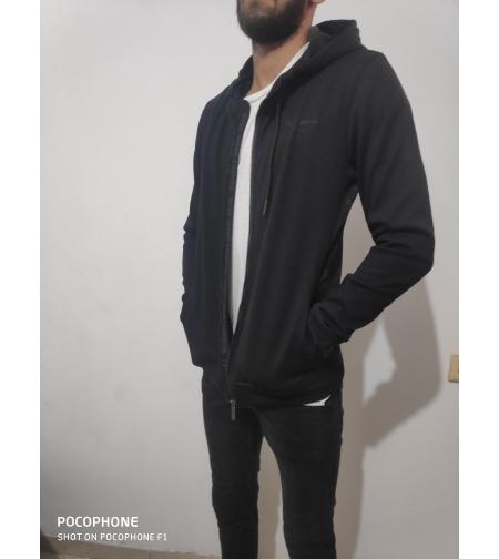 pepe jeans סווטשירט עם כובע שחור