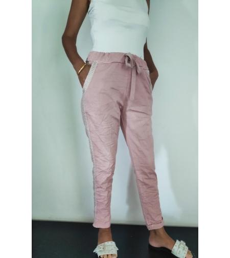 מכנסיים בצבע ורוד    ONE SIZE