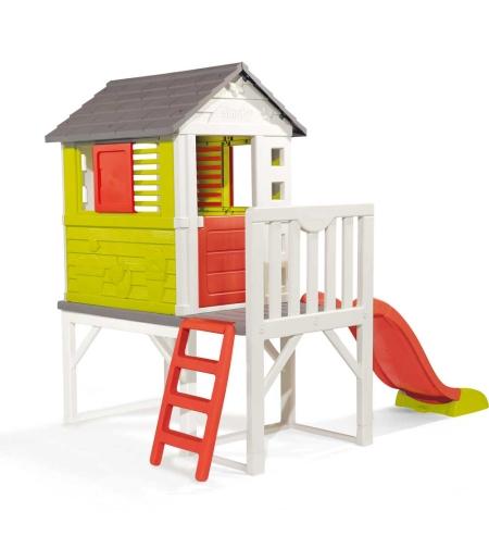 בית פעילות לילדים עם מגלשה מבית Smoby