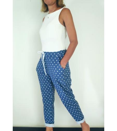 Obsession מכנסיים כחולים עם נקודות