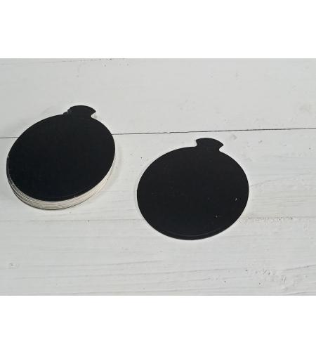 תחתית קינוחים עיגול צבע שחור