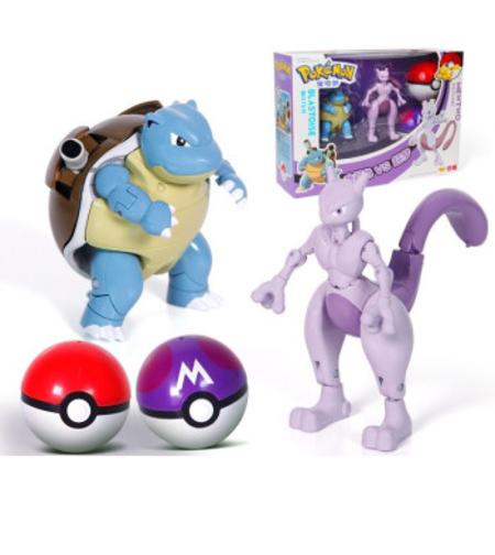 פוקימון החדש דרקון ורוד וצב כחול במארז זוגי