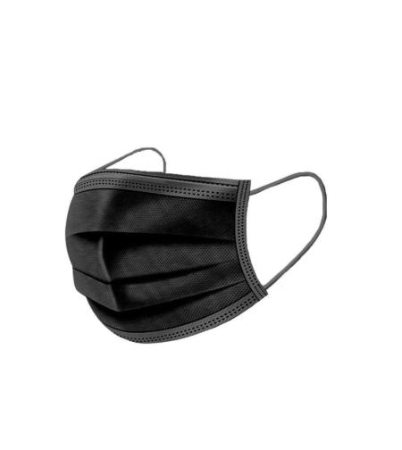 מארז 50 יח' מסכות פנים חד- פעמיות בצבע שחור