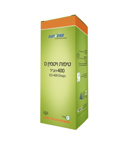 טיפות ויטמין 400 D3 בד