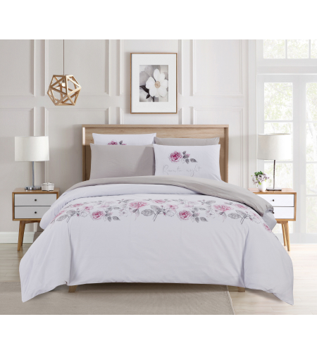 סט מצעים כותנה דגם אפרודיטה למיטה זוגית מיוחד 160/200