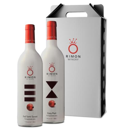 מארז זוגי יינות איזי פורט ורד חצי מתוק | RIMON WINERY