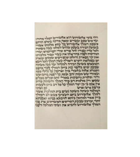 מגילת אסתר 'המלך'  21 שורות 19 ס'מ