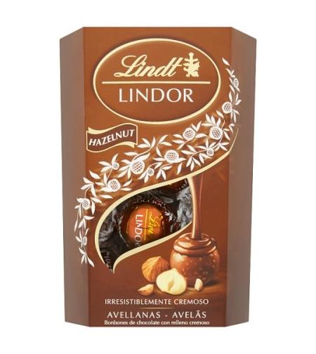 לינדור - כדורי שוקולד עם קרם אגוזי לוז