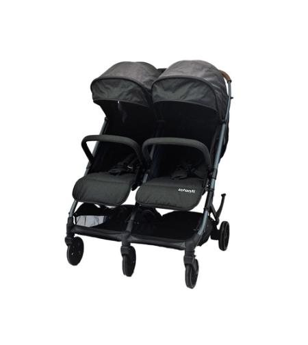 עגלת תאומים דגם Duo Compact מבית infanti אינפנטי