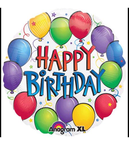 Happy Birthday לבן בלונים