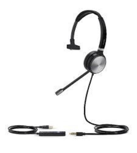 אוזניות חוטיות מונו עם מיקרופון Yealink UH36 M USB