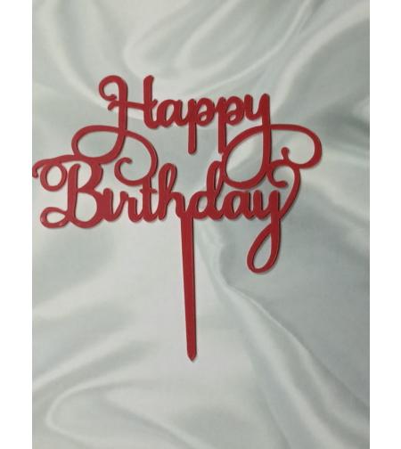 טופר HAPPY BIRTHDAY אדום