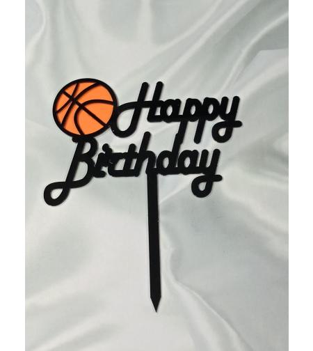 טופר HAPPY BIRTHDAY כדורסל