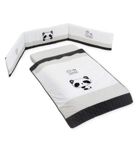 סט קומפלט למיטת תינוק הדוב פנדה