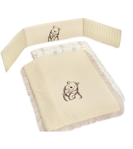 סט מצעים 3 חלקים לעריסת תינוק הדוב פו לורה סוויסרה