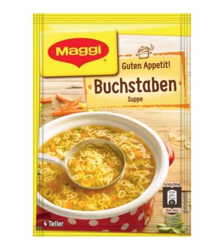 Maggi Buchstaben Suppe - מרק מאגי גרמני להכנה מהירה עם אותיות פסטה (63 גרם)