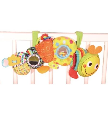 צעצוע לעגלה - Bizzy Bussy Stroller Fun Caterpillar ביבה טויס Biba Toys