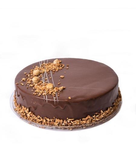 עוגת קרם נוטלה אגוזים | חלבי - בד