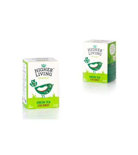 הייר ליווניג - תה ירוק קוקוס אורגני
