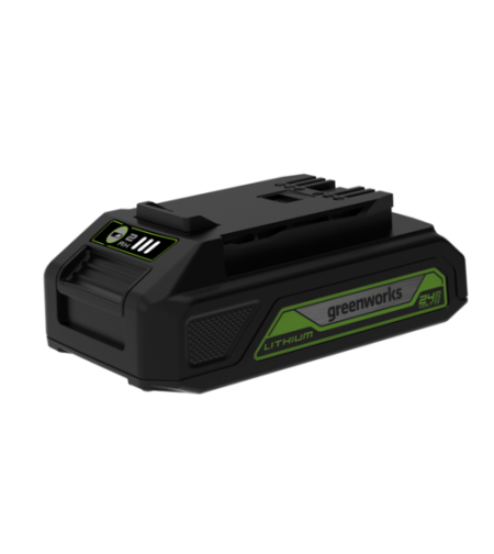 סוללת ליתיום עם שקע USB לטעינה greenworks 24V 2AH