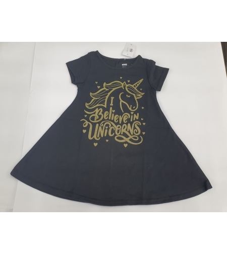 שמלה בנות דלתא 2-10 (שחור,אדום)
