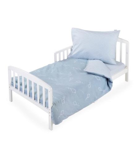 סט מצעים למיטת מעבר פלנל עפיפון כחול