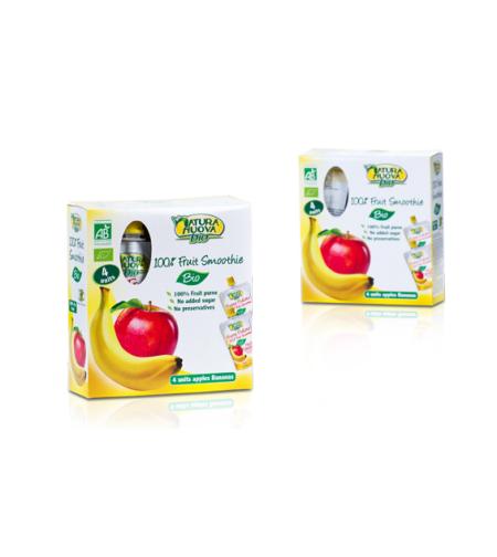 נטורה נובה - סמוצ´י תפוח בננה אורגניים מארז משפחתי