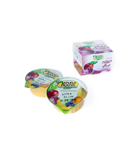 נטורה נובה - מחית תפוח שזיף אורגני