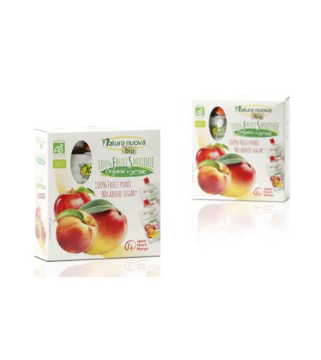 נטורה נובה -סמוצ´י תפוח אפרסק אורגניים מארז משפחתי