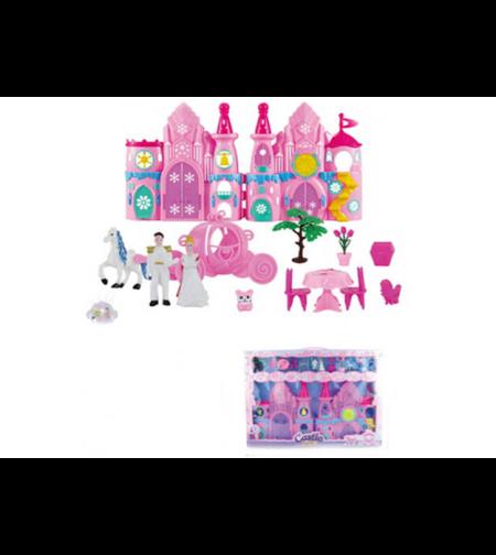 ארמון+נסיך ונסיכה+כרכרה+אביזרים+תאורה 66X47