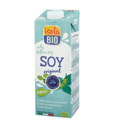 משקה סויה אורגני ללא תוספת סוכר - איזולה ביו