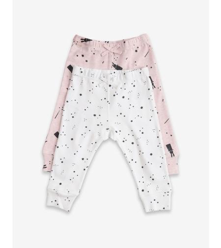 זוג מכנסיים ורוד מלאנג' - מיננה