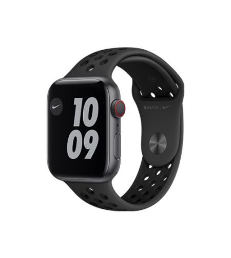 שעון חכם אפל Apple Watch Nike Series 6 GPS + Cellular 44mm בצבע אפור חלל עם רצועת ספורט שחורה