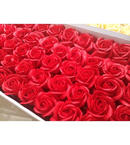 פרחים אדומים - 10 יחידות