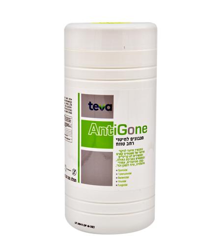 מיכל מגבונים אנטיגון לניקוי משטחים רפואי - 200 מגבונים