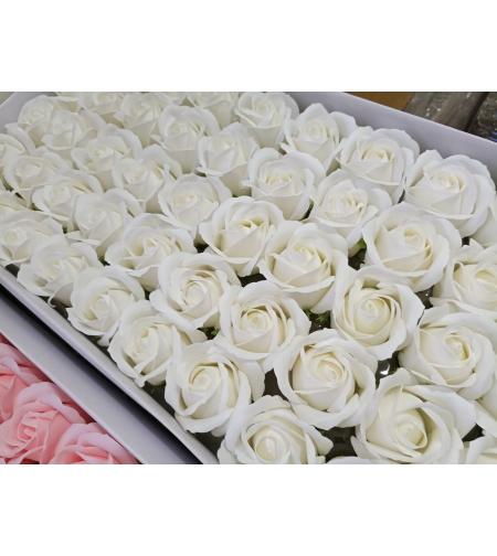 פרחים לבנים- 10 יחידות