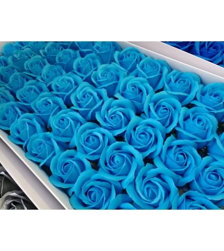 פרחים בצבע תכלת - 10 יחידות